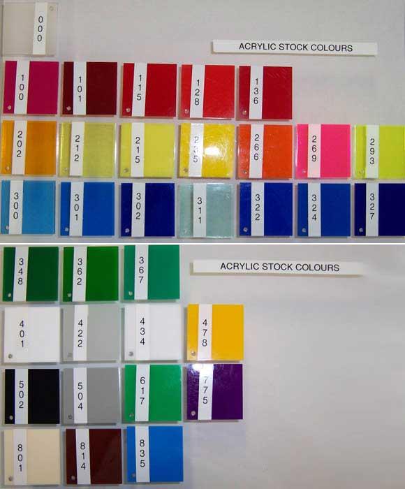Acrylic Colour Samples