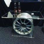 V8 Supercar Rim Acrylic Coffee Table