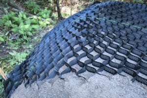 Erosion control using geocell