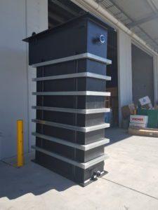 Rectangular plastic water tanks